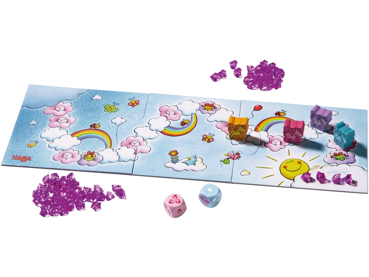 HABA บอร์ดเกมเด็ก 301256 UNICORN GLITTERLUCK - CLOUD CRYSTAL